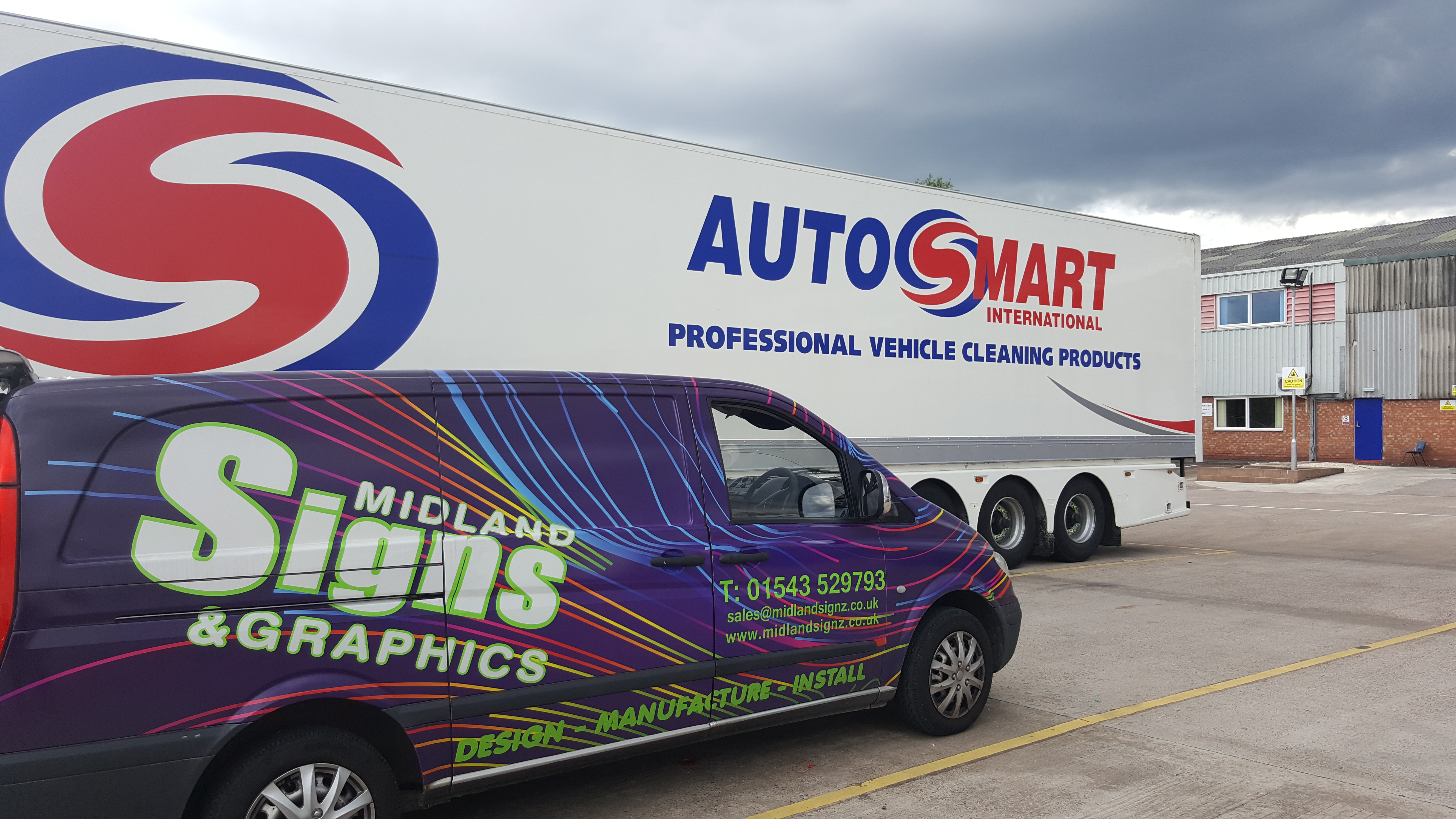 wrap completed for autosmart international using corporate colours midlands signs graphics. Black Bedroom Furniture Sets. Home Design Ideas