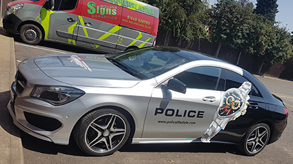 inpage image police livery for car